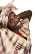 African American girl portrait, in traditional african clothing