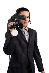 Camera man pose