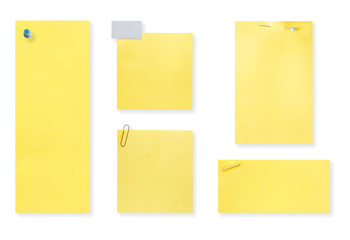 Blank yellow notes.