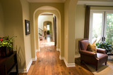 Hardwood floor hallway. poster