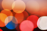Bokeh circles background poster
