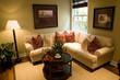 Living room with luxury decor.