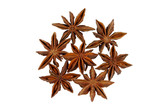 Star aniseed or badiane - popular spice isolated on white poster