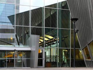 Super modern skyscraper building abstract.