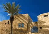 Detail of old city Jaffa from Israel poster