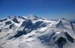 Monte-Rosa-Massiv-der grenzüberschreitende Flug