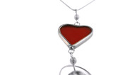 isolated antique heart and ruby colored accessory poster