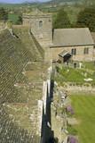 The parish church stokesay castle shropshire england uk poster