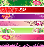 love & hearts website banners / vector / set #1 poster