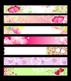 love & hearts website banners / vector / set #2 poster