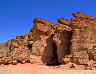 Solomons pillars at Timna park