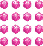 Applications Cube Icon Series Set poster