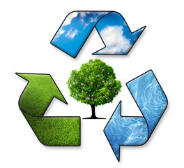 Recycle Symbol - Air, Water, Earth