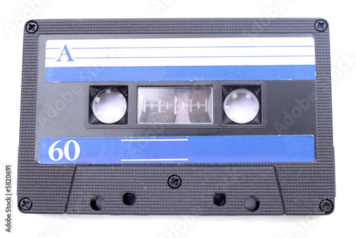 Old dirty 80's audio cassette tape .