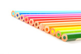 Fototapeta Kolorowe kredki w rzędzie