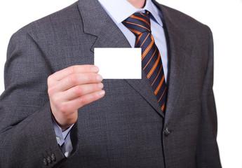 business man e biglietto da visita