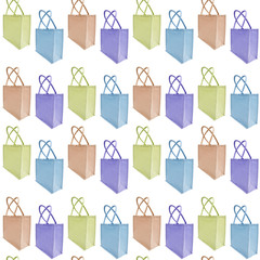 Reusable jute bag background (seamless repeat tile)