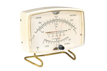 Household aneroid barometer hygrometer thermometer.