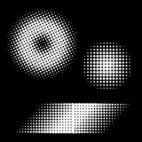 Vector - Retro 70s and 80s halftone dots in black and white poster