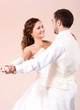 Beautiful couple - bride and groom - dancing