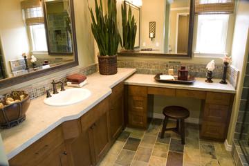 Modern bathroom and decor.