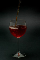 one night with glass of red wine 5/29