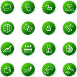 green sticker business icons poster