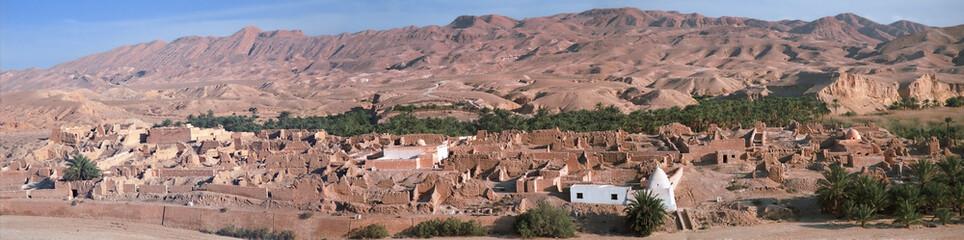 troglodyte habitation - chenini, douiret - tataouine – tunisia