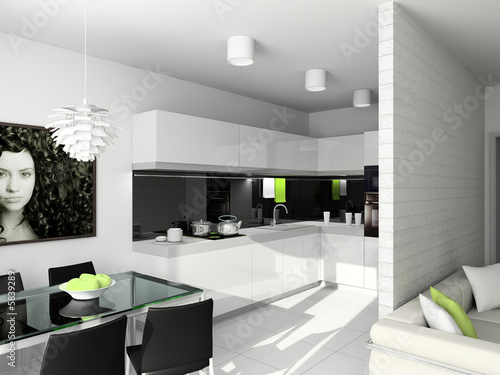 Modern Furniture Gallery on Kitchen With The Modern Furniture  3d Render     George Mayer  5839289