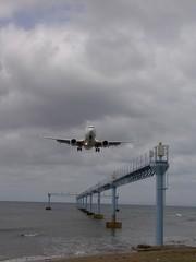 Landeanflug auf den Flughafen von Arrecife - Lanzarote