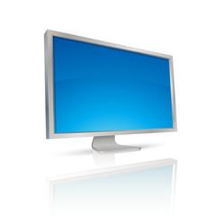 écran d'ordinateur argent