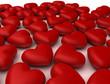 Quadro Mille cuori rossi