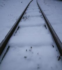 Gleis der Schmalspurbahn