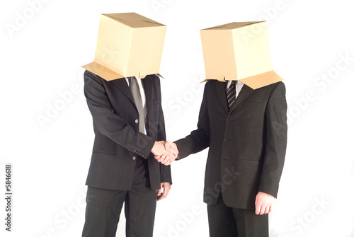 Two businessman on the white background