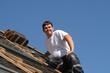 Homme sur toit