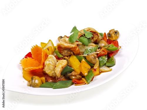 garnelen süß scharf mit paprika - 5847884