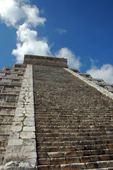 Steps leading to the top of an Ancient Mayan Pyramid
