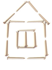 Nails. Abstract house