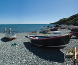 The fishing port of porthmallow on the lizard peninsula  poster