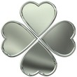 Metal 3d clover