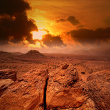 Sunset in Atlas mountains, Morocco poster