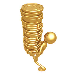 Gold Euro Coins Tower