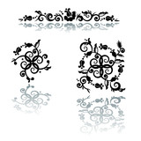 Decorative floral pattern abstract design elements