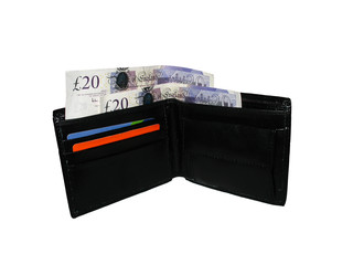 wallet with british pounds