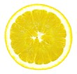 roleta: lemon isolated on white background