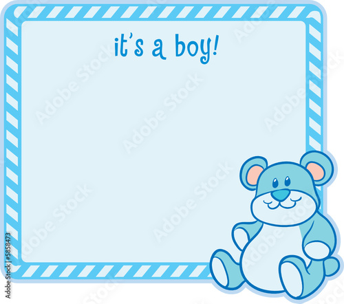 """It's a Boy!"" baby birth announcement"