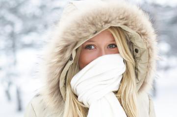 winter, beauty, girls,