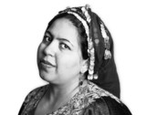 Portrait of a Muslim Woman in an Ornate Head Scarf poster
