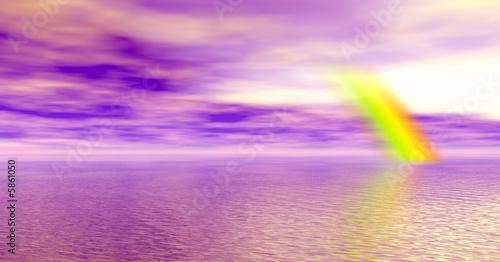 Leinwanddruck Bild Beautiful rainbow