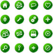 green sticker web icons